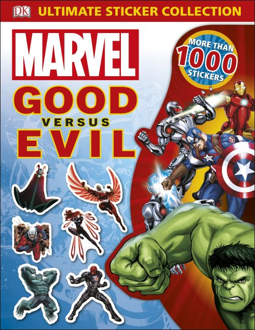 Paperback cover of Marvel Good vs Evil Ultimate Sticker Collection