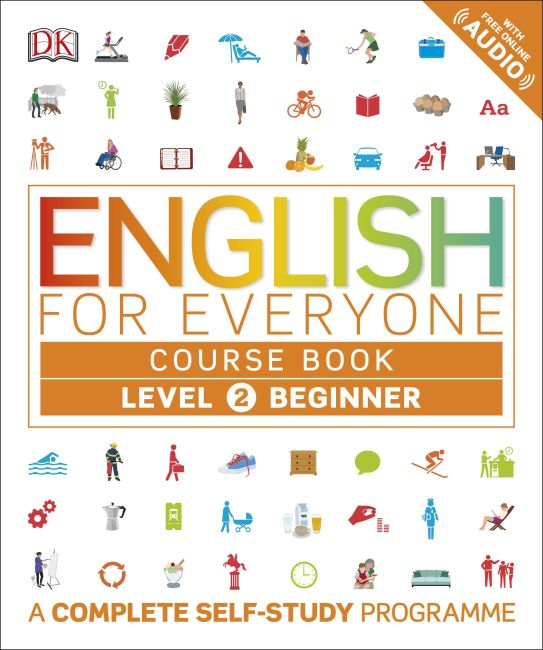 Flexibound cover of English for Everyone Course Book Level 2 Beginner