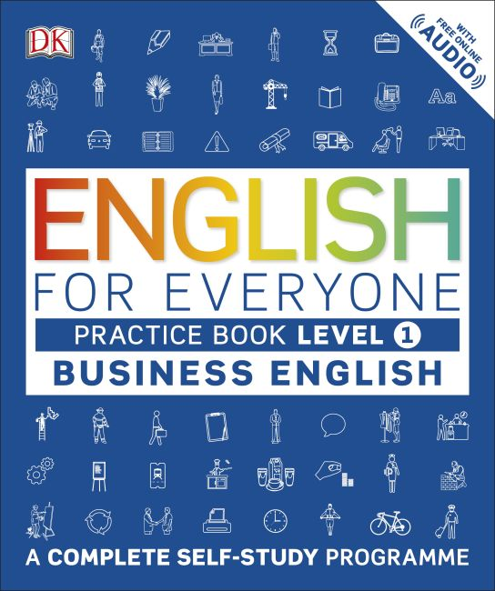 Paperback cover of English for Everyone Business English Practice Book Level 1