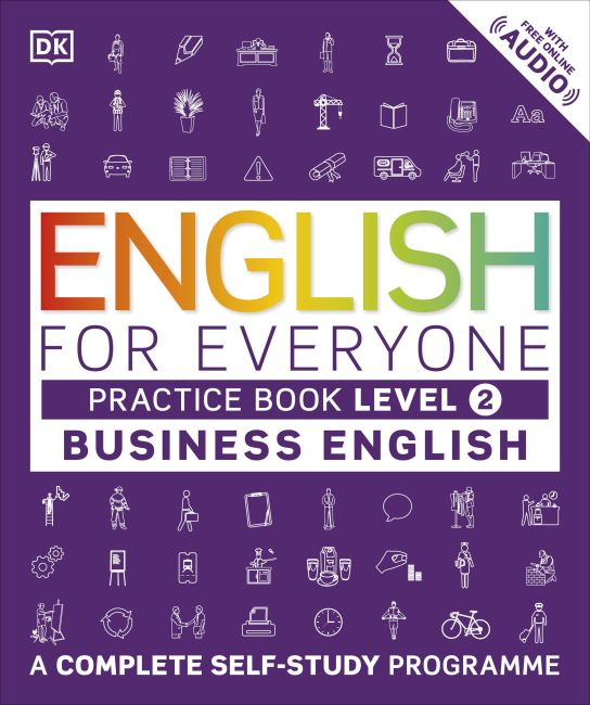 Paperback cover of English for Everyone Business English Practice Book Level 2