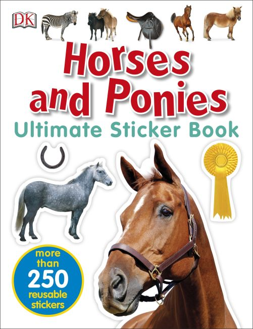 Paperback cover of Horses and Ponies Ultimate Sticker Book