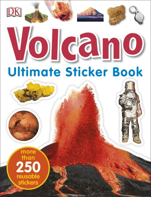 Paperback cover of Volcano Ultimate Sticker Book
