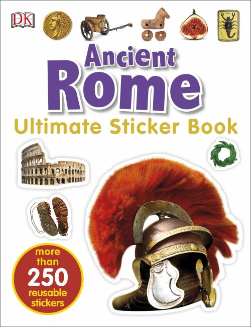 Paperback cover of Ancient Rome Ultimate Sticker Book