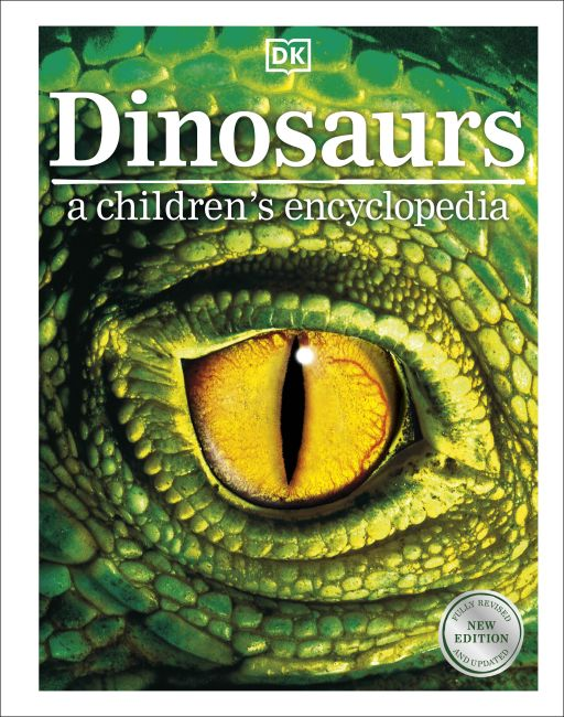 Hardback cover of Dinosaurs A Children's Encyclopedia