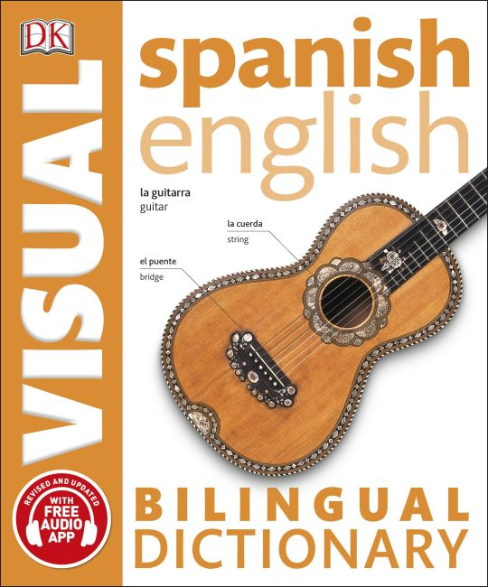 Paperback cover of Spanish-English Bilingual Visual Dictionary with Free Audio App