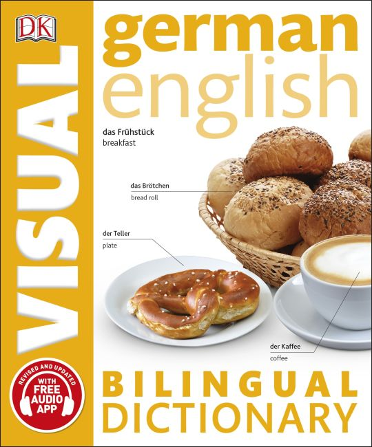 Paperback cover of German-English Bilingual Visual Dictionary with Free Audio App