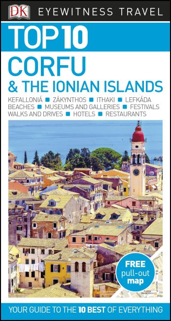 Paperback cover of DK Eyewitness Top 10 Corfu and the Ionian Islands