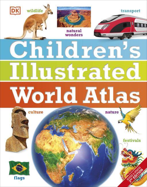 Hardback cover of Children's Illustrated World Atlas