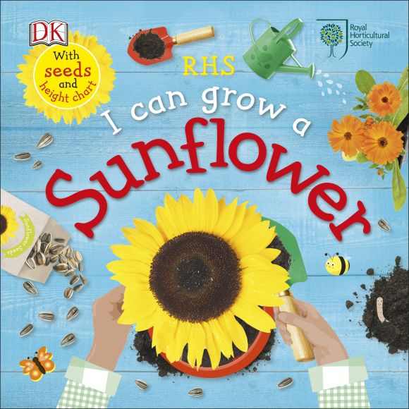 Board book cover of RHS I Can Grow A Sunflower