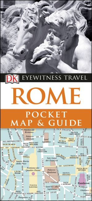 Paperback cover of DK Eyewitness Rome Pocket Map and Guide