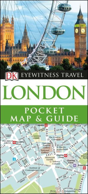 Paperback cover of DK Eyewitness London Pocket Map and Guide
