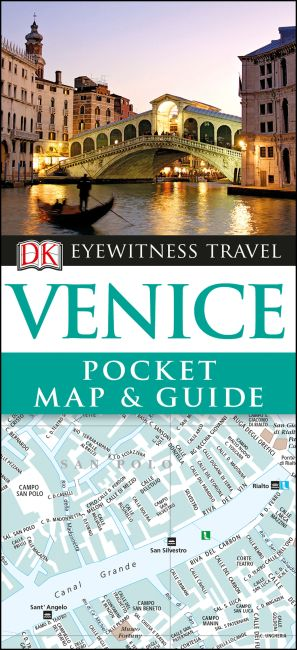 Paperback cover of DK Eyewitness Venice Pocket Map and Guide