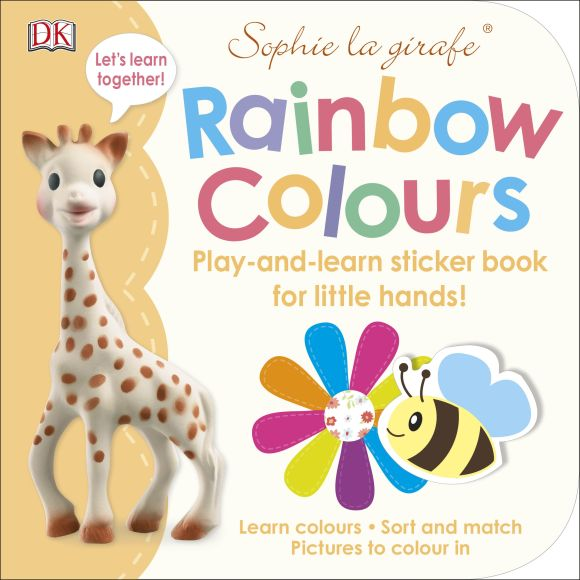 Paperback cover of Sophie la girafe Rainbow Colours