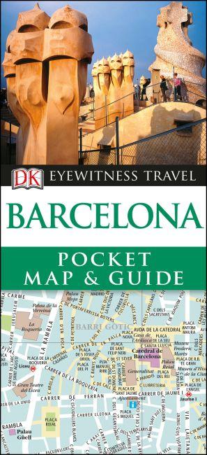 Paperback cover of DK Eyewitness Barcelona Pocket Map and Guide