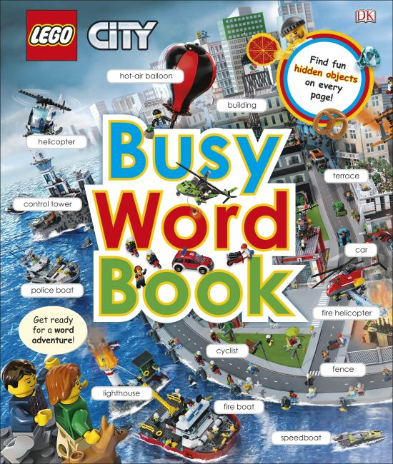 Hardback cover of LEGO CITY Busy Word Book