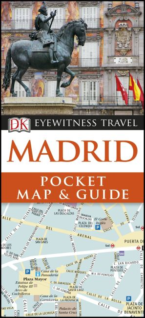 Paperback cover of DK Eyewitness Madrid Pocket Map and Guide