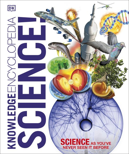 Hardback cover of Knowledge Encyclopedia Science!