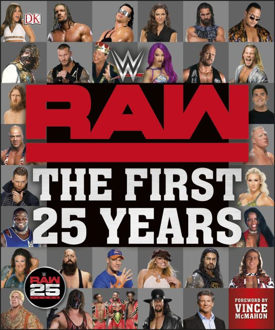 Hardback cover of WWE RAW The First 25 Years