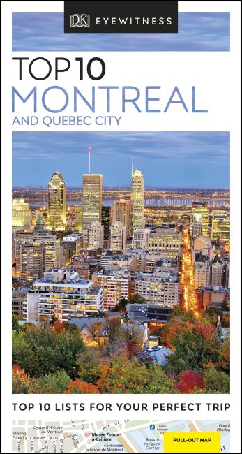 Paperback cover of DK Eyewitness Top 10 Montreal and Quebec City