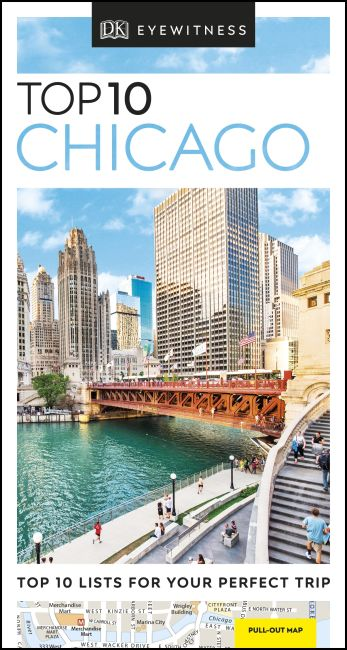 Paperback cover of DK Eyewitness Top 10 Chicago