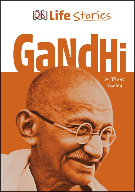 Hardback cover of DK Life Stories Gandhi