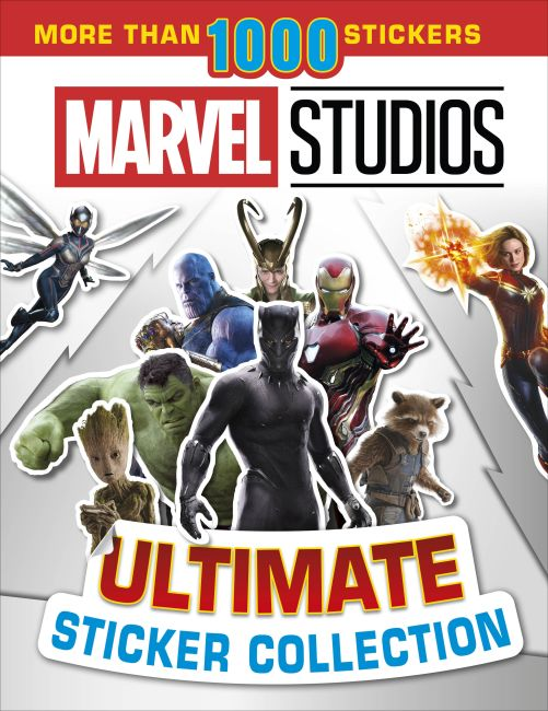 Paperback cover of Marvel Studios Ultimate Sticker Collection