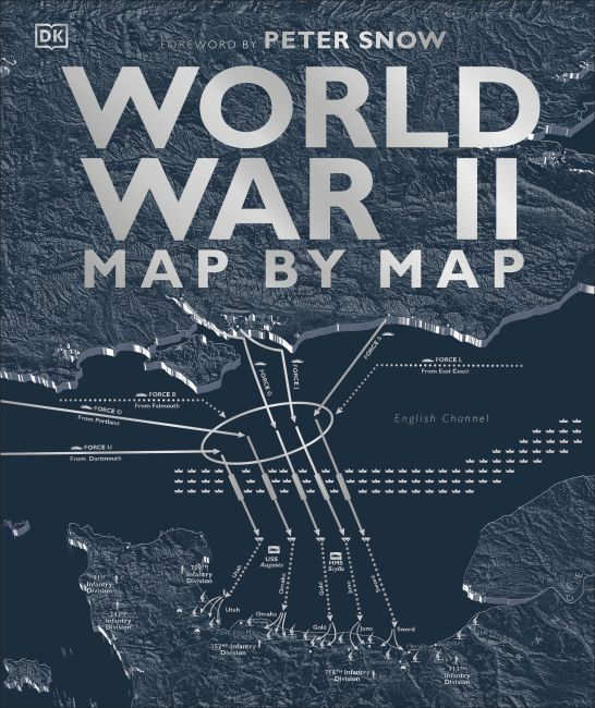 Hardback cover of World War II Map by Map