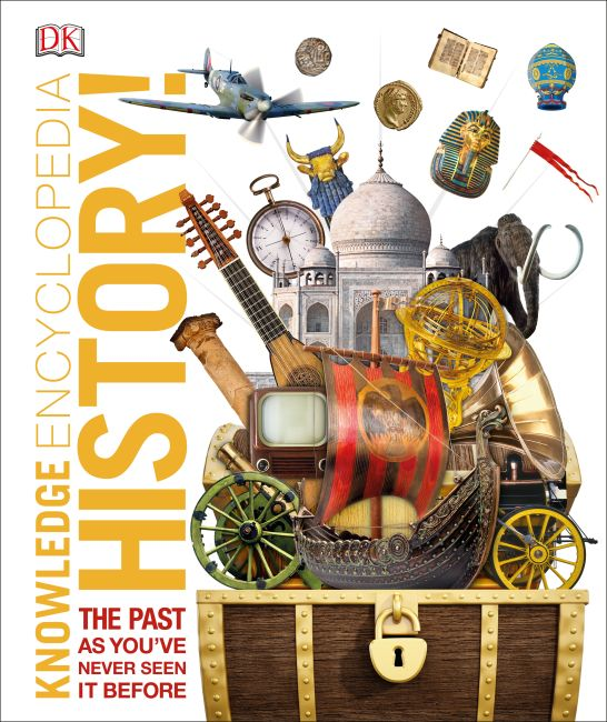 Hardback cover of Knowledge Encyclopedia History!