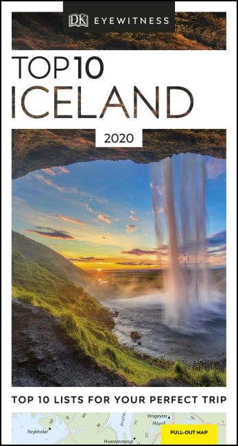 Paperback cover of DK Eyewitness Top 10 Iceland