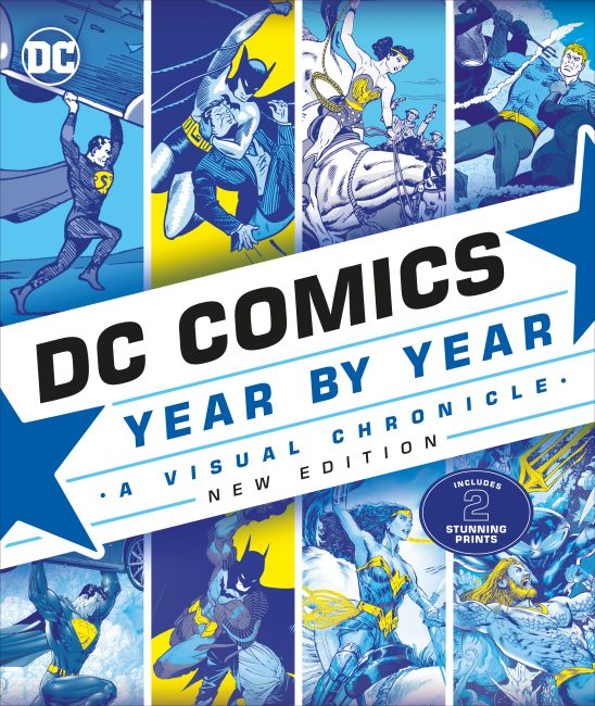 Hardback cover of DC Comics Year By Year New Edition