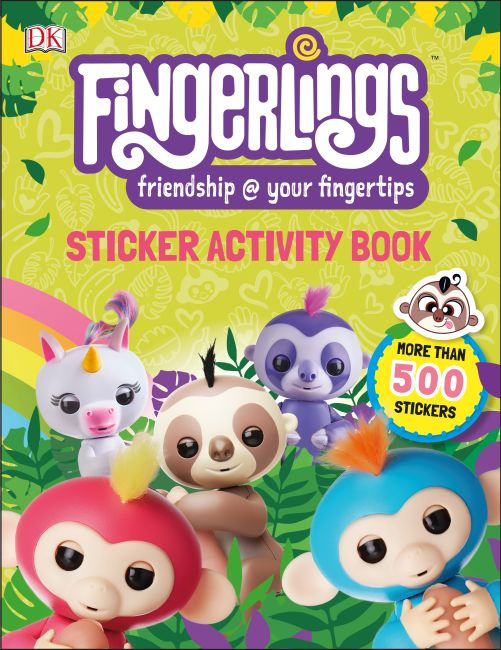 Paperback cover of Fingerlings Sticker Activity Book