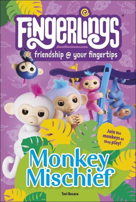 Hardback cover of Fingerlings Monkey Mischief
