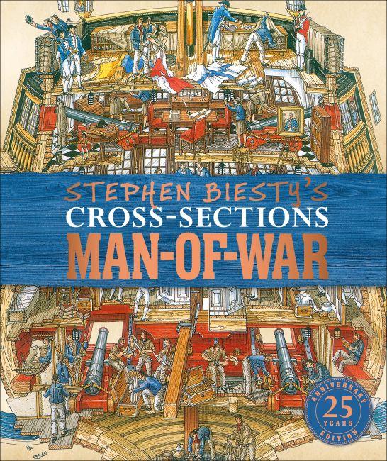 Hardback cover of Stephen Biesty's Cross-Sections Man-of-War