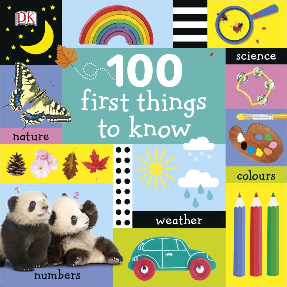 Board book cover of 100 First Things to Know