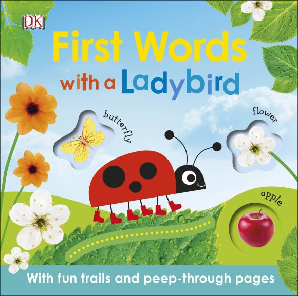 Board book cover of First Words with a Ladybird