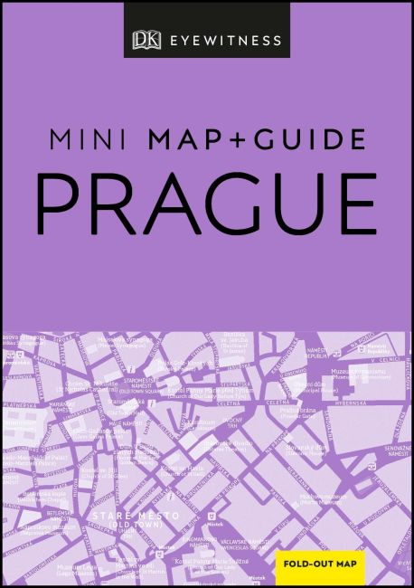 Paperback cover of DK Eyewitness Prague Mini Map and Guide