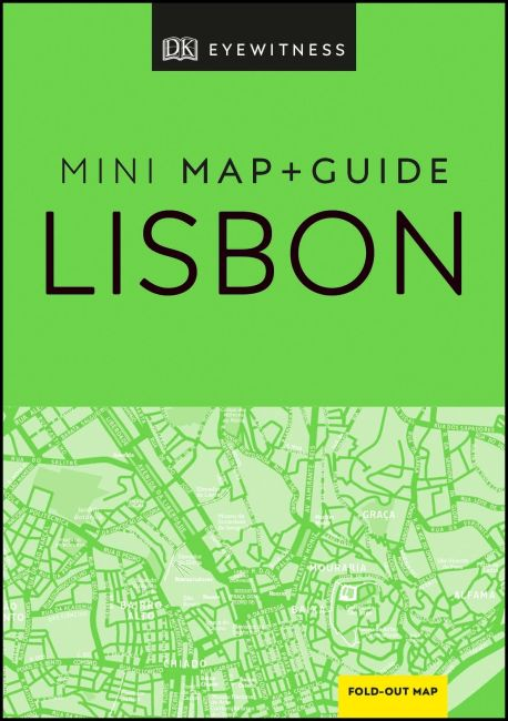 Paperback cover of DK Eyewitness Lisbon Mini Map and Guide