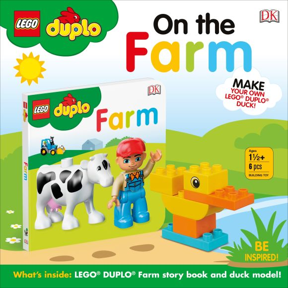 Board book cover of LEGO DUPLO On the Farm