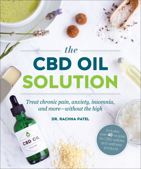 Paperback cover of The CBD Oil Solution