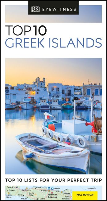 Paperback cover of DK Eyewitness Top 10 Greek Islands