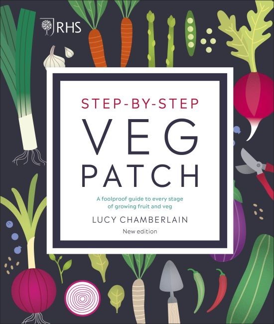 Hardback cover of RHS Step-by-Step Veg Patch