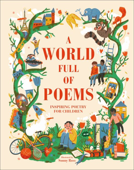 Hardback cover of A World Full of Poems