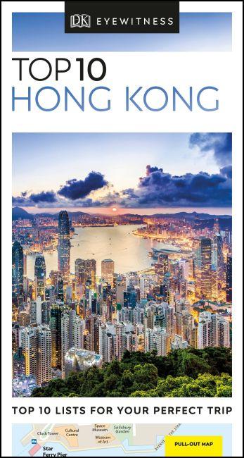 Paperback cover of DK Eyewitness Top 10 Hong Kong