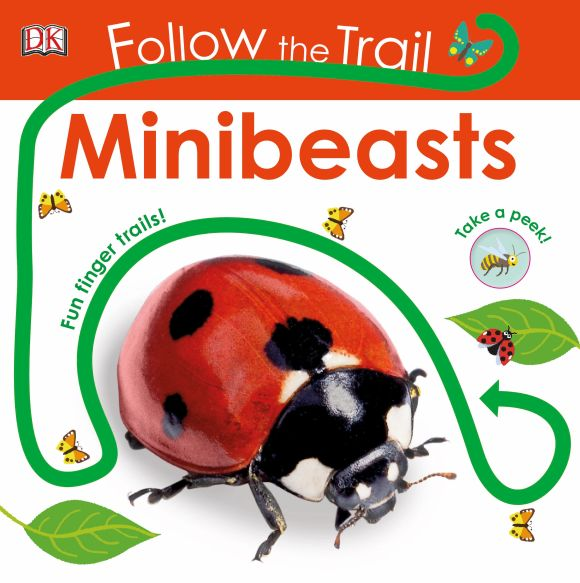 Board book cover of Follow the Trail Minibeasts