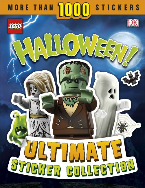 Paperback cover of LEGO Halloween! Ultimate Sticker Collection