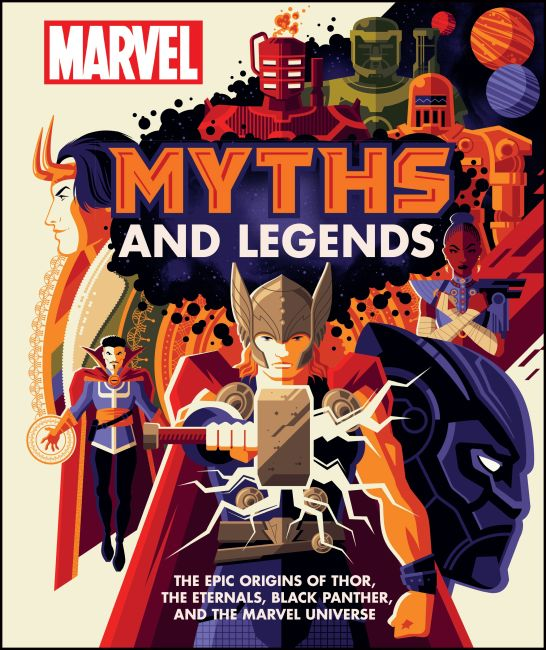 Hardback cover of Marvel Myths and Legends