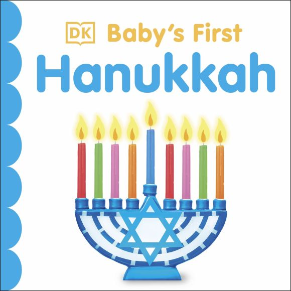 Board book cover of Baby's First Hanukkah