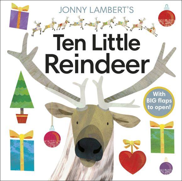 Board book cover of Jonny Lambert's Ten Little Reindeer