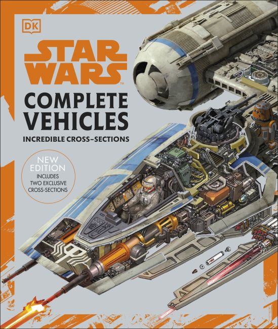 Hardback cover of Star Wars Complete Vehicles New Edition