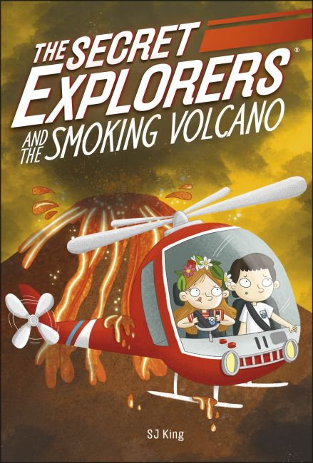 Paperback cover of The Secret Explorers and the Smoking Volcano